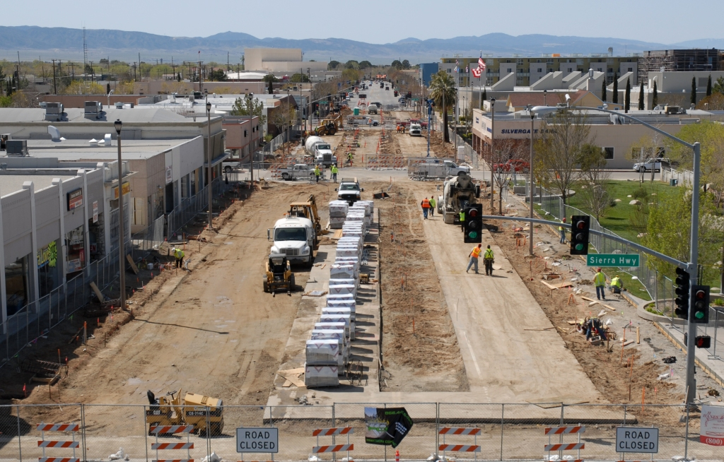 Lancaster Blvd Construction