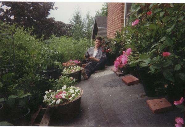 Roof garden, Joe, Rutgers circa 1995